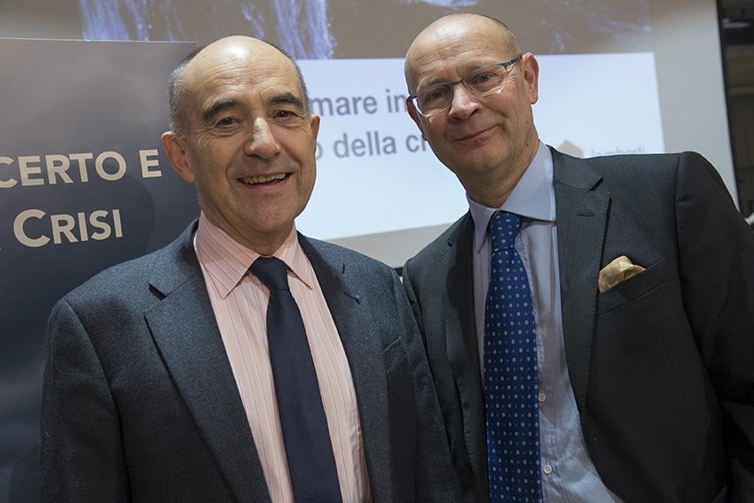 """Patrick Lagadec e Patrick Trancu al seminario """"Navigare il mare incerto e tempestoso della crisi"""" organizzato da TT&A Advisors"""